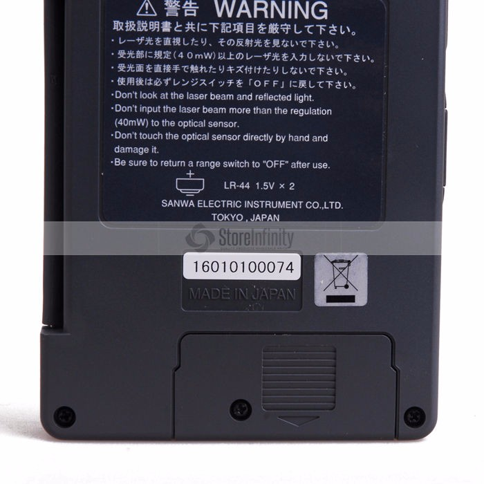 Digital SANWA LP1 Optical Laser Power Meter 40mW 400~1100nm range optical sensor Original Japan
