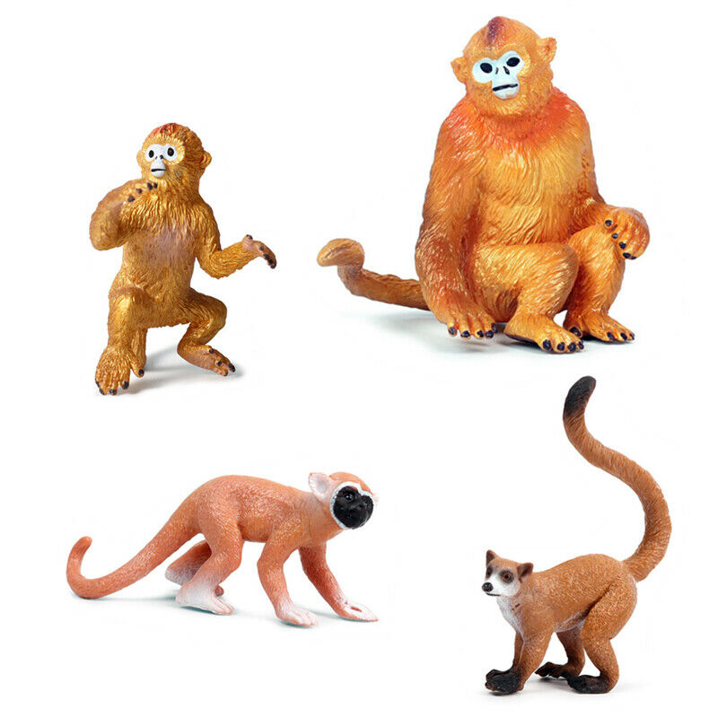 Snub-nosed Monkey Squirrel Monkey Langur Animal Figure Model Adult Kids Collection Science Education Toys Gift Home Decor