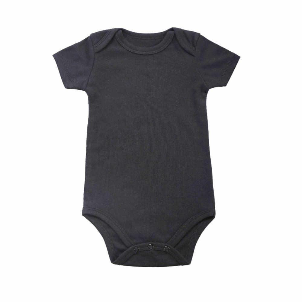 부드러운 아기 2020 새로운 0-24 미터 신생아 유아 아기 소녀 소년 순수한 짧은 소매 꽉 바디 수트 여름