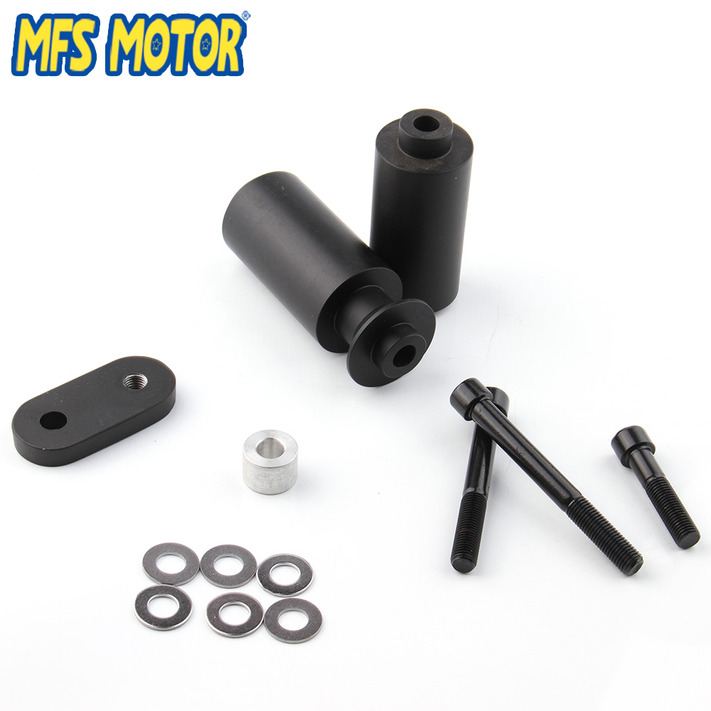 Motorcycle parts No Cut Frame Slider Crash Protector For Yamaha 2006 2007 YZF R6 YZFR6 Black