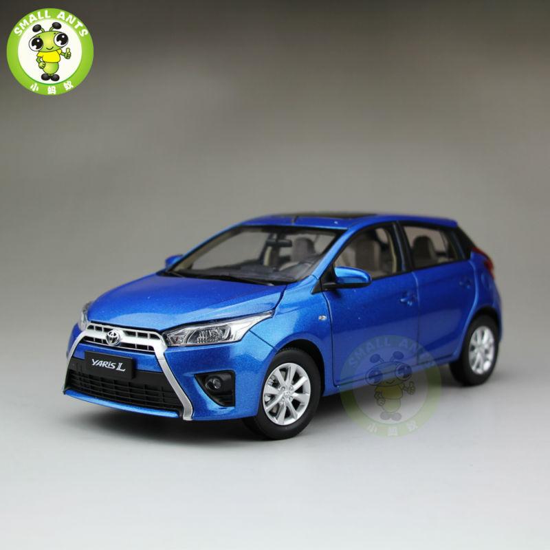 ФОТО 1:18 Toyota New Yaris L Diecast Car Model Blue
