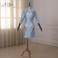 ADLN New 2017 Arrival Mother of the Bride Wedding Pant Suit Knee Length Plus Size Mother of The Bride Dresses With Jacket