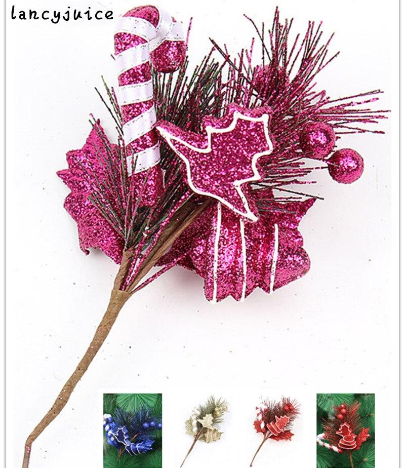 Christmas Tree Needles: Glitter Christmas Cutting 20cm Tree Ornament Christmas