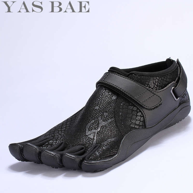 Python pattern Sale Design Rubber with Five Fingers Outdoor Slip Resistant Breathable Light weight Mountaineer for Men Yas Bae