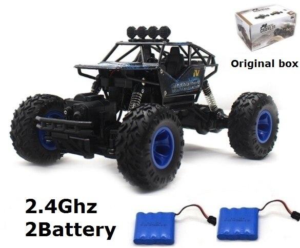 4WD coche eléctrico RC Rock Crawler Control remoto coches de juguete camiones de alta velocidad todoterreno en el Radio controlado 4x4 Drive juguetes regalo