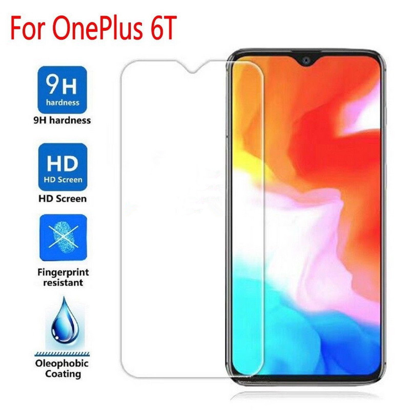 Luxury Full Coverage Protective <font><b>Case</b></font> For <font><b>OnePlus</b></font> 6 6T 9H Tempered <font><b>Glass</b></font> Screen Protector Film For One Plus 5 <font><b>5T</b></font> 3 3T Front Cover image