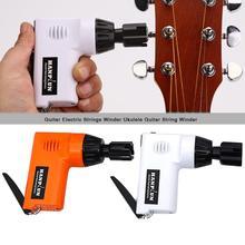 Guitarra elétrica winder draagbare automatische gitaar elektrische snaren winder met cortador de cordas para ukulele
