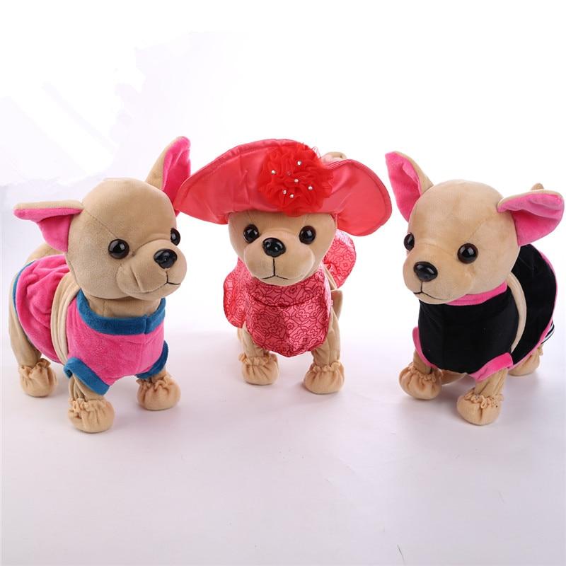 Der Chi Chi Love Zipper Electronic Plush Stuffed Dog Singing Walking Musical Plush Pet Robot Dog Toys Interactive Toys For kids