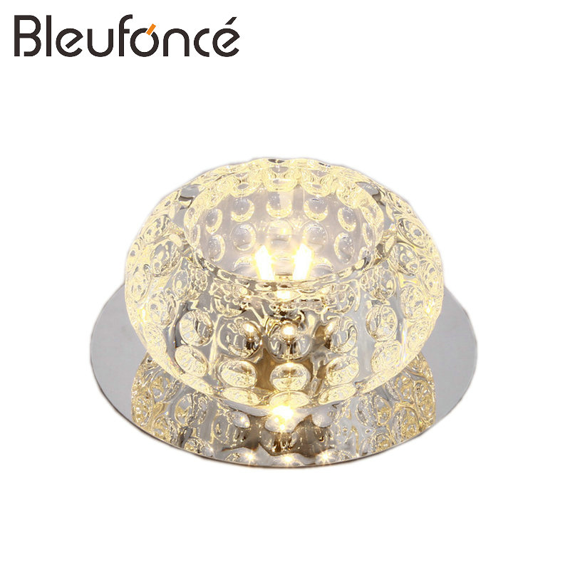 Modern Simple Crystal Ceiling Lamp Bedroom Living Room Decorative Lighting Ceiling Light 3W 5W LED 110V 220V Home Lighting BL193 modern multicolour crystal ceiling lights for living room luminarias led crystal ceiling lamp fixtures for bedroom e14 lighting