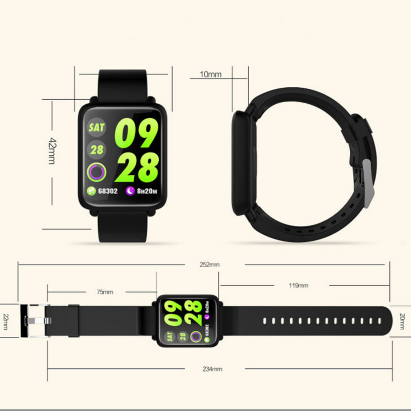 Smart Wristband Qs100 Multi-sports Mode Blood Pressure Oxygen Monitoring Whatsapp Information Push Watch To Ensure Smooth Transmission Wearable Devices
