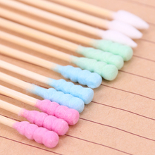 100PCS/Pack Double Head Cotton Swab Women Makeup Medical Double-head Wood Sticks Ears Cleaning Health Care Tool