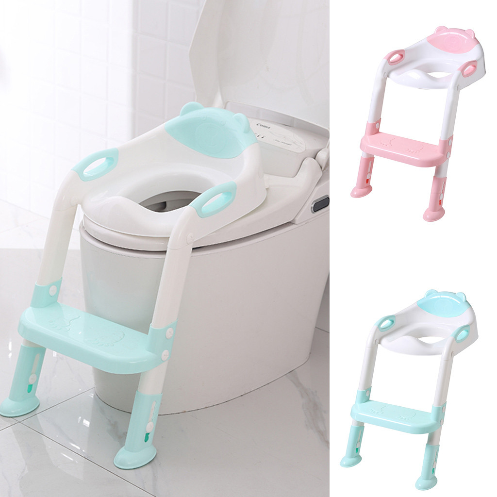 2 in1 Baby Toilet Seat Training Home Potty Child Toddler Kid Trainer Chair Stool