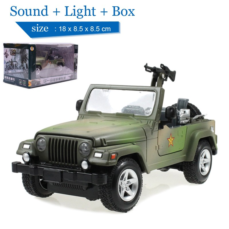 children lights sound j24 1 military jeep 124 diecast car military model