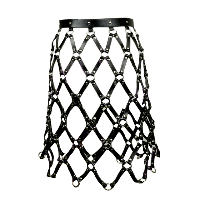 New Sexy Pub Party Leather Chain Skirts Belts Women Frame Caged