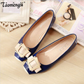 Fashion cute square toe women flats ballet flat shoes woman
