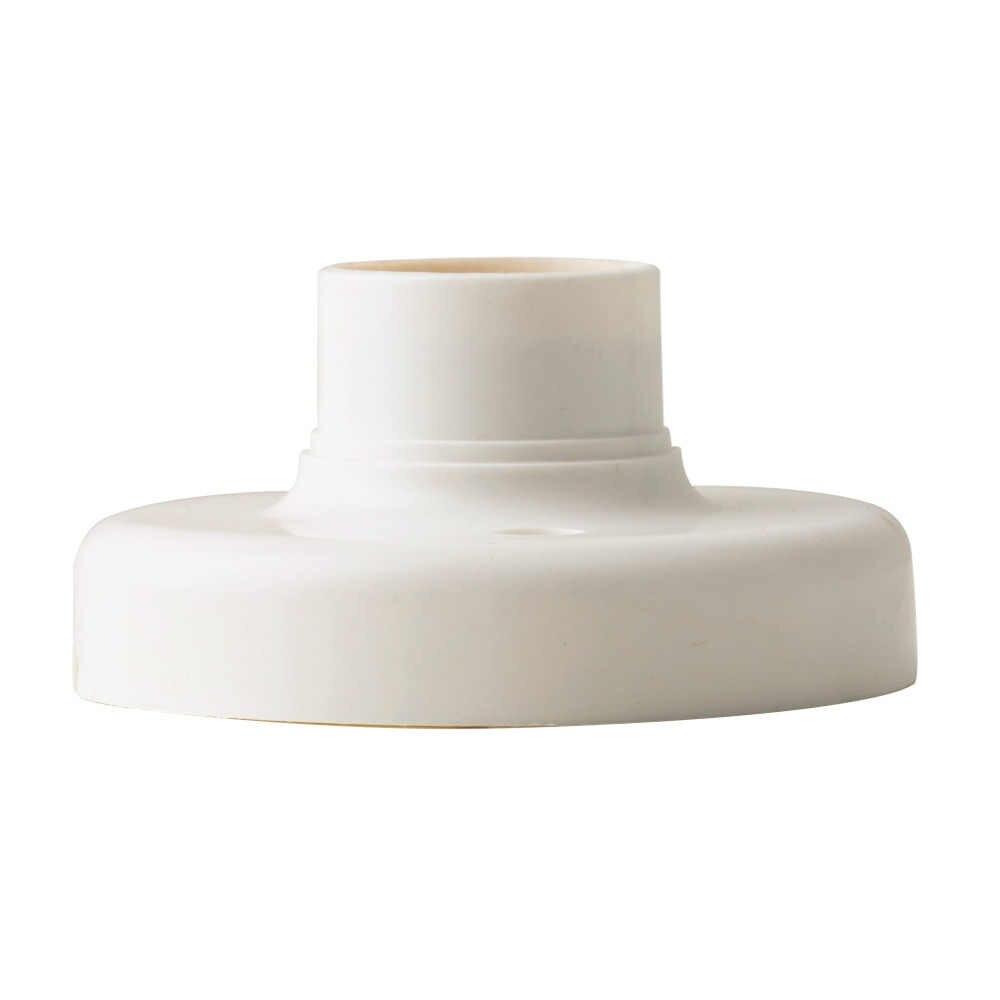 1Pc 2017 New E27 Round Plastic Base Screw Light Bulb Lamp Socket Holder White