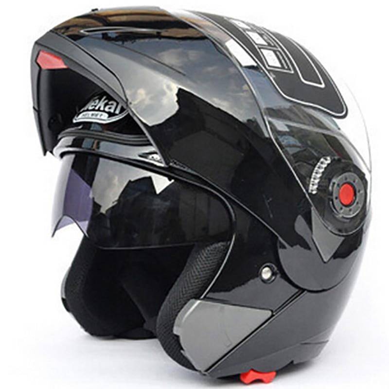 JIEKAI 105 мотоциклетные шлемы флип вверх шлем двойной козырьки анфас гонки мотоциклетных КАСКО в размере-2XL в мотоциклетных шлемах