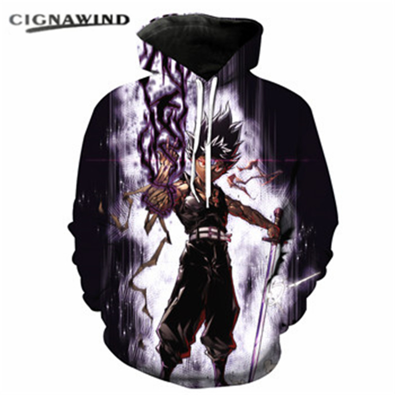 Hoodies & Sweatshirts Adroit New Fashion Hoodie Men/women Hoodies Sweatshirt Classic Anime Yu Yu Hakusho 3d Print Pullovers Harajuku Streetwear Unisex Tops Clearance Price