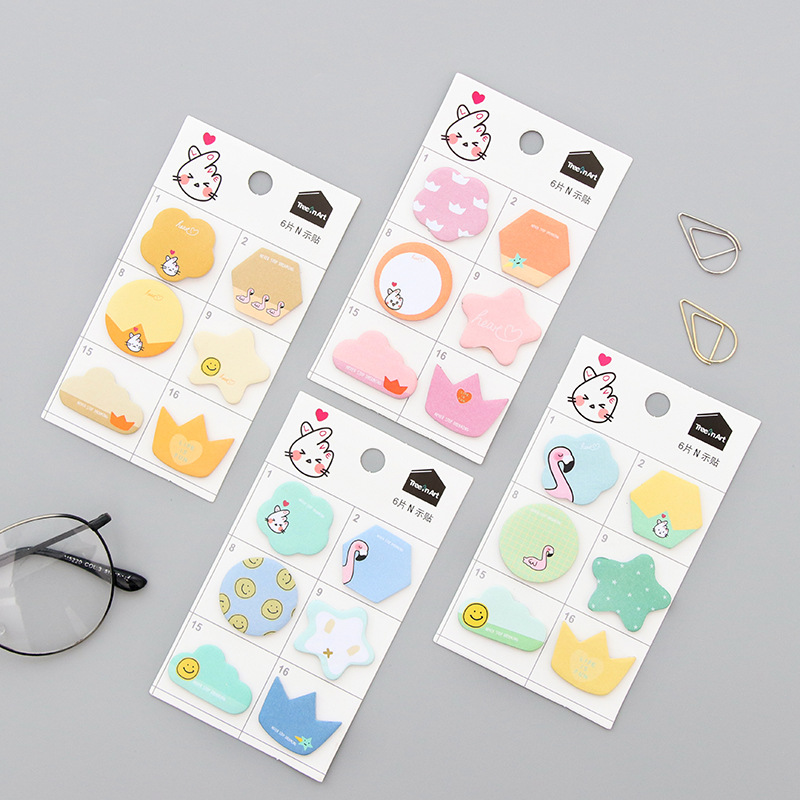Cute Flamingo Sticky Notes post Memo Pad Office Supplies Planner Stickers Paper Bookmarks School Stationery Students Gifts