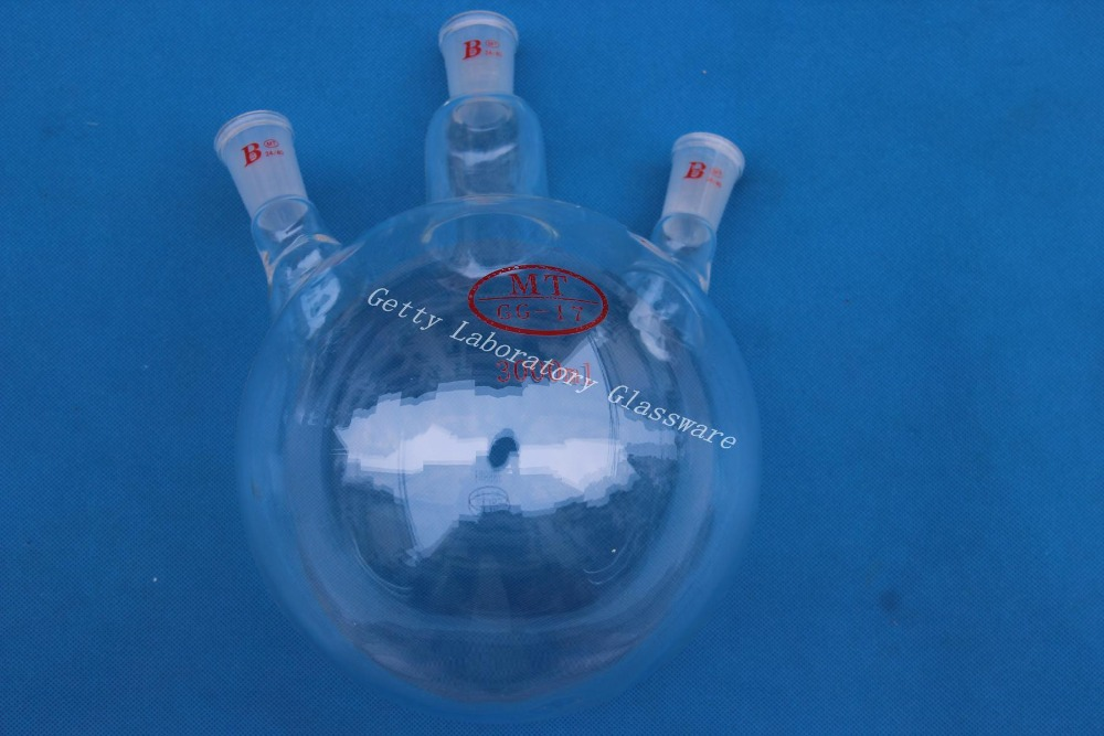 ФОТО 3000ml (3L) three-neck Round bottom flask,3-neck, Joint 24/40,heavy wall (Laboratory Glassware instrument)