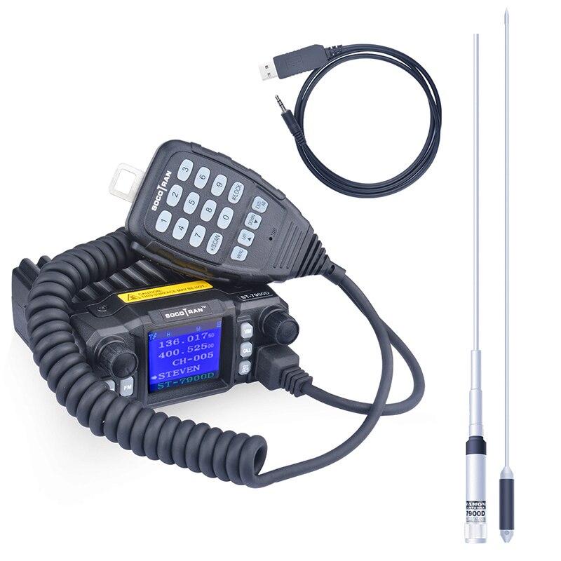 SOCOTRAN ST 7900D クワッドバンド 25 ワット 136 174MHz 220 270MHz 350 390MHz 400  480 400 490mhz 送料プログラミングケーブル & アンテナ  グループ上の 携帯電話 & 電気通信 からの トランシーバー の中 1