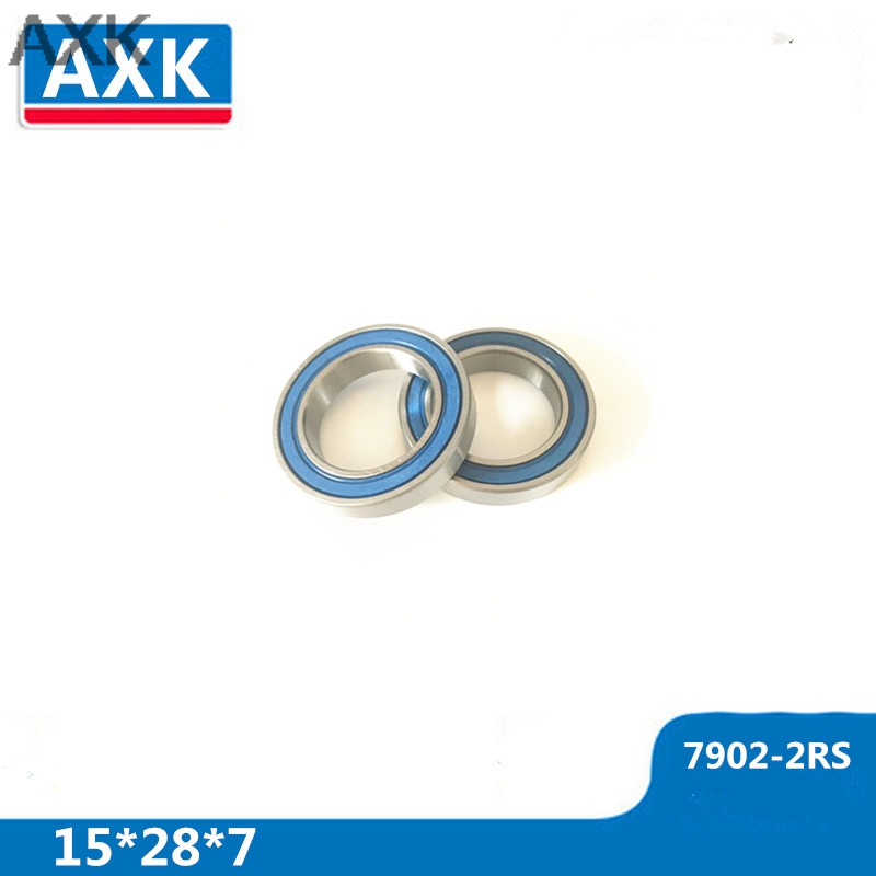 AXK 7902-2RS 7902RS 7902 71902 Bicycle Bearing 15x28x7mm Repair Bearing MAX Full Complement