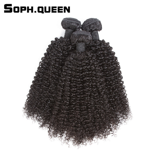 Soph Queen 3 Bundles Kinky Curly Wave Virgin Hair Bundles Longest