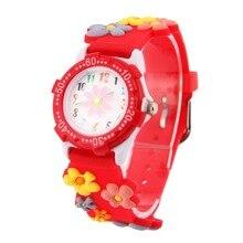 2016 nouvelle mode garçons filles silicone Fleurs Montre de Dessin Animé pour enfants minnie montre de dessin animé pour enfants cadeau de noël horloge