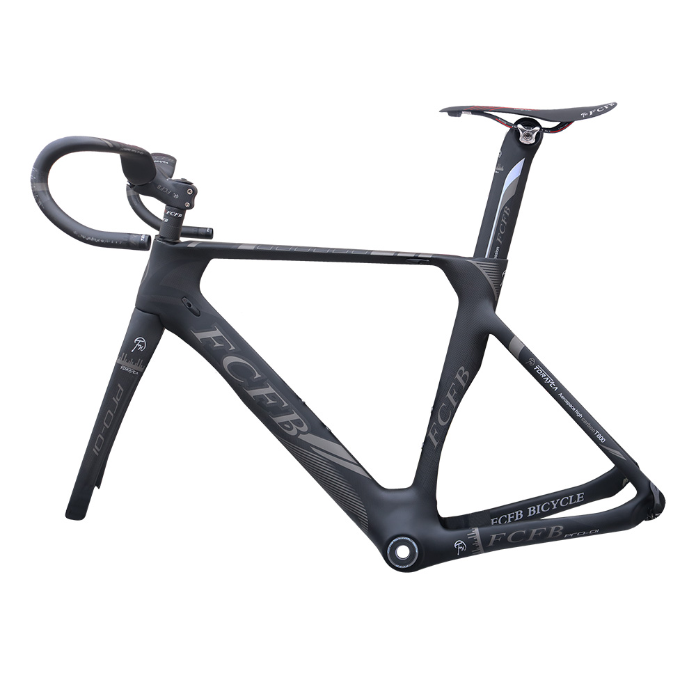 FCFB Carbon Road Bike Pro01 47/49/51cm New Carbon Road Frame 3K Matt BB92 Bicicleta Road Bike Frame With Handlebar Stem