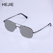 0fedbab1af9e3 HEJIE Homens Photochromic Óculos de Leitura de Metal Aro Completo  Anti-risco de Revestimento de