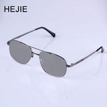 HEJIE Homens Photochromic Óculos de Leitura de Metal Aro Completo Anti-risco de Revestimento de Lente de Dioptria + 0.25 + 0.75 + 1.0 + 1.25 + 1.5 + 1.75 a + 4.0 Y2256