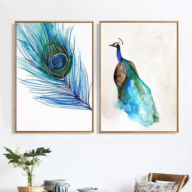 Skandinavischen Dekorative Nordic Leinwand Malerei Wohnzimmer Wand ...