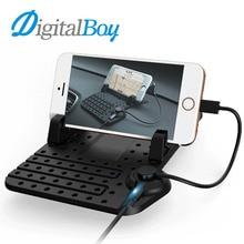 Digitalboy автомобиля Нескользящие Коврик Magic липкий коврик держатель мобильного телефона приборной панели автомобиля силикона Коврик USB кабель для зарядки для iPhone Android