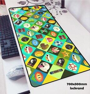 Image 3 - מריו עכבר רפידות locrkand כרית כדי עכבר notbook מחשב שטיחי עכבר 70x30cm משחקי שטיחי עכבר גיימר כדי מקלדת מחשב נייד עכבר מחצלות
