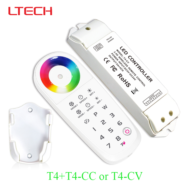 T4 2.4G led rgbw controller +T4-CV or T4-CC receiving led controller for rgbw led strip/led panel light