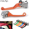 New Dirt Bike Clutch Lever Blue Motorcycle Brake Clutch Levers For Yamaha YZ426F 450F 2001 2002