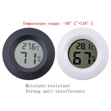 Mini LCD Digital Round Thermometer Hygrometer Handheld Fridge Temperature Humidity Meter Freezer Tester Detector 50 110