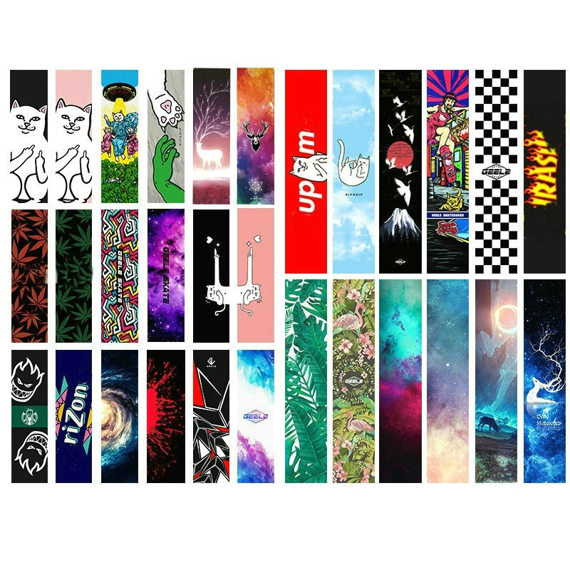 Free Shipping 1PC 84 23cm Skateboard Grip Tape PVC Silicon Graphic Skateboard Sandpaper Mini Longboard Deck