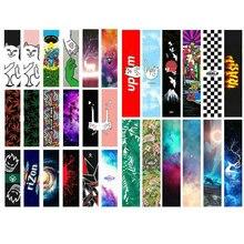 Бесплатная доставка 1 шт. 84*23 см Перчатки для скейтборда клейкие ленты ПВХ и кремния Графический наждачная бумага для скейтборда мини Лонгборд палубе Griptapes песок бумага