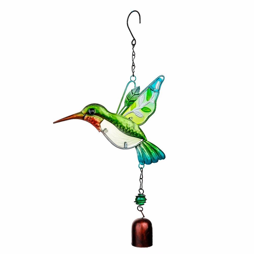 H & D pájaro hecho a mano viento carillón de pared ventana puerta Wind Bell colgante Adornos vendimia hogar Campanula decoración artesanía