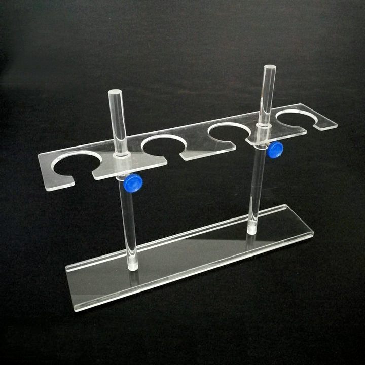 1Piece lot 4 holes Organic glass separating funnel stand funnel rack support for 125ml to 500ml