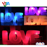 3m Inflatable Letter LOVE LED Lighting Backdrops Nice Look High Quality Inflatable Love Words For Wedding Party Decorations