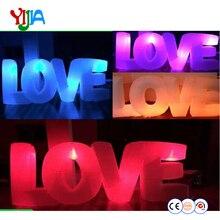 Надувная буква любовь светодио дный освещения приятно смотреть высокое качество надувные освещение Свадебная вечеринка украшения для продажи
