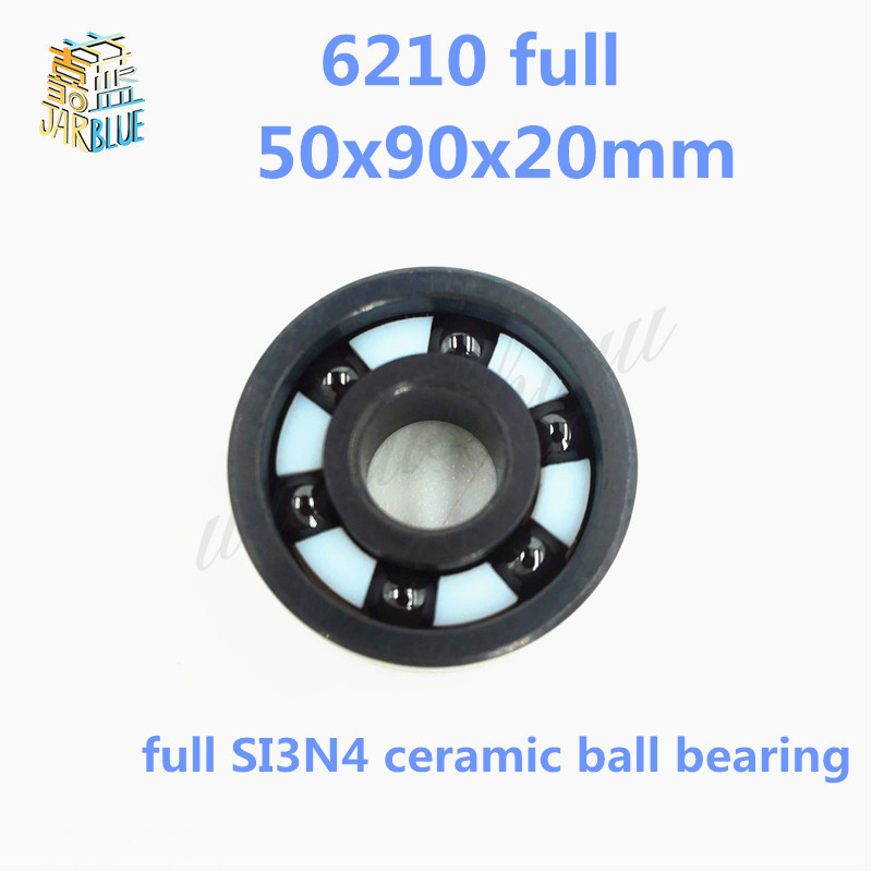 Free shipping high quality 6210 full SI3N4 ceramic deep groove ball bearing 50x90x20mm high quality mr115 full si3n4 ceramic deep groove ball bearing 5x11x4mm