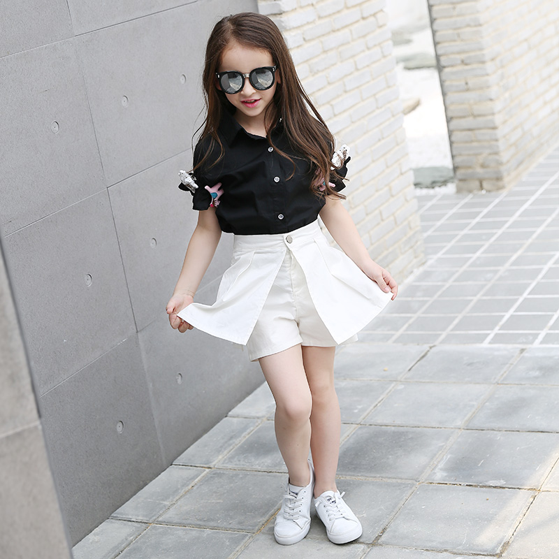 c808a764993 2017 Fashion Teenage Girls Clothing Set for Teen Girl Children Summer  Blouses+Skirt Pants 11 12 13 14 Kids Clothes 2PCS Sets-in Clothing Sets  from Mother ...