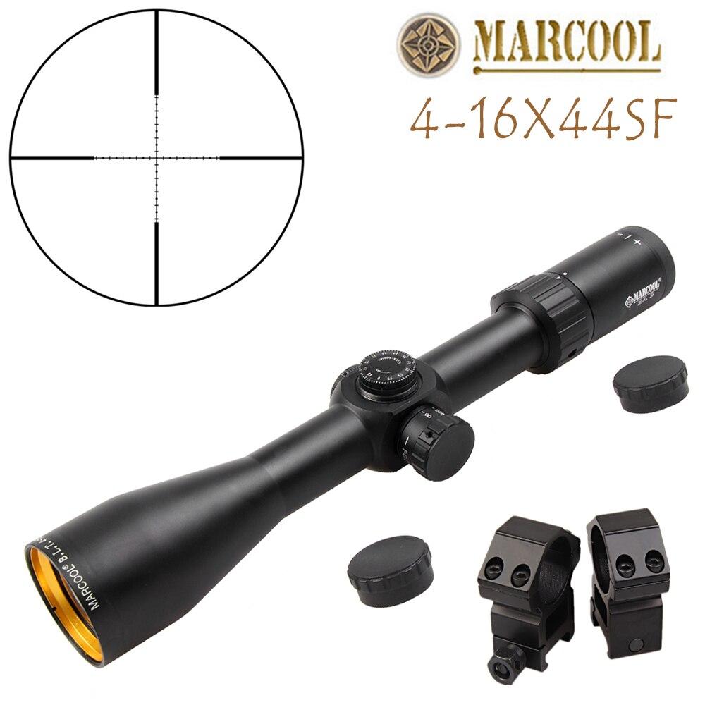 Nouveau visée optique vue MARCOOL 4-16X44S lunette de visée extérieur chasse optique portée de vue pour airgun airsoft fusil sniper accessoires