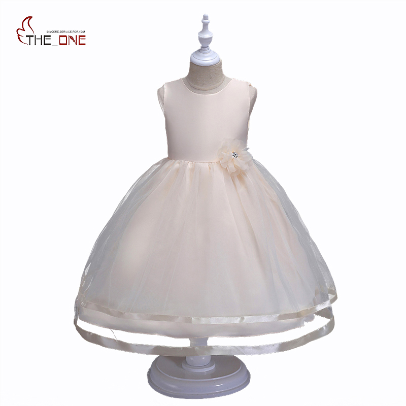 MUABABY Big Girls Princess Dress Summer Children Flower Sleeveless Tulle Prom Party Dresses Kids Girl Wedding Evening Ball Gown new flower girls dress summer kids girl clothing wedding party prom floral dresses sleeveless clothes children princess dress