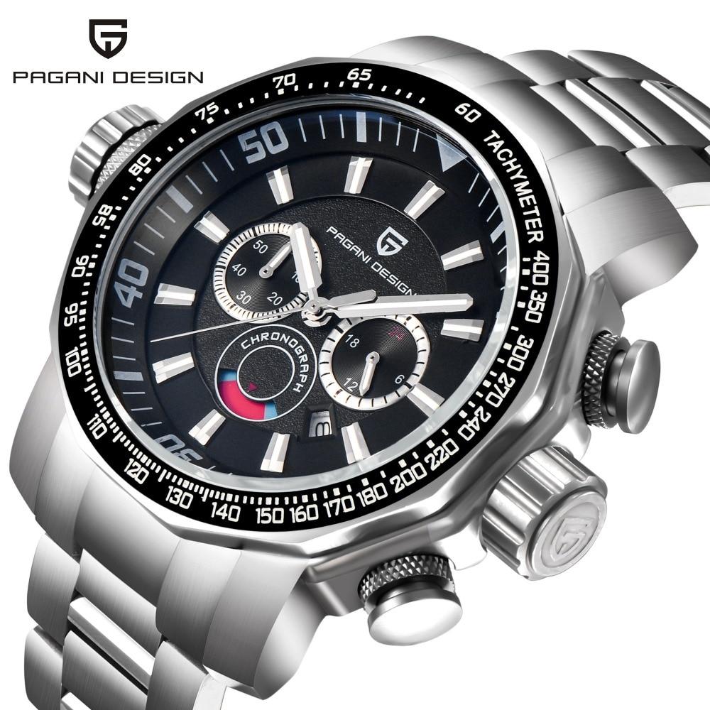 Montre hommes de luxe marque Sport chronographe montres militaires multifonction Quartz montres pour hommes Pagani Design reloj hombre