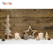 Yeele Christmas Party Photocall Wood Candles Pine Photography Backdrops Personalized Photographic Backgrounds For Photo Studio