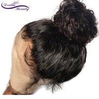 Мечта Красота вьющиеся полный шнурок человеческих волос парики предварительно сорвал естественно волосяного покрова бразильский Волосы